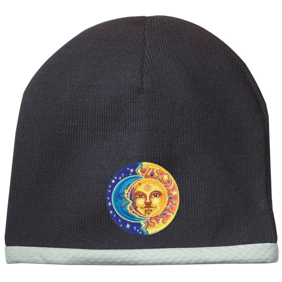 e2925aad646 Sun and Moon Patch Performance Beanie Hat - Athletic Heather Grey -  Walmart.com