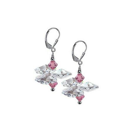 Gem Avenue Floral 925 Sterling Silver Drop Earrings Floral Gemstone Earrings