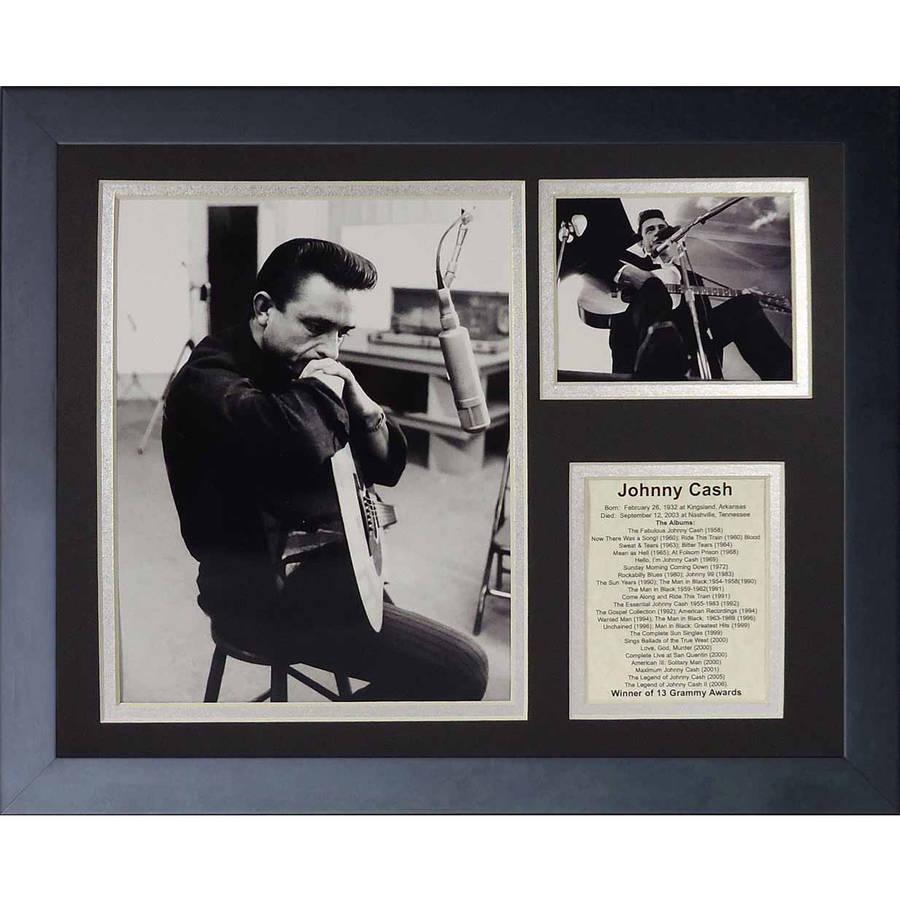 "Legends Never Die ""Johnny Cash III"" Framed Photo Collage, 11"" x 14"""