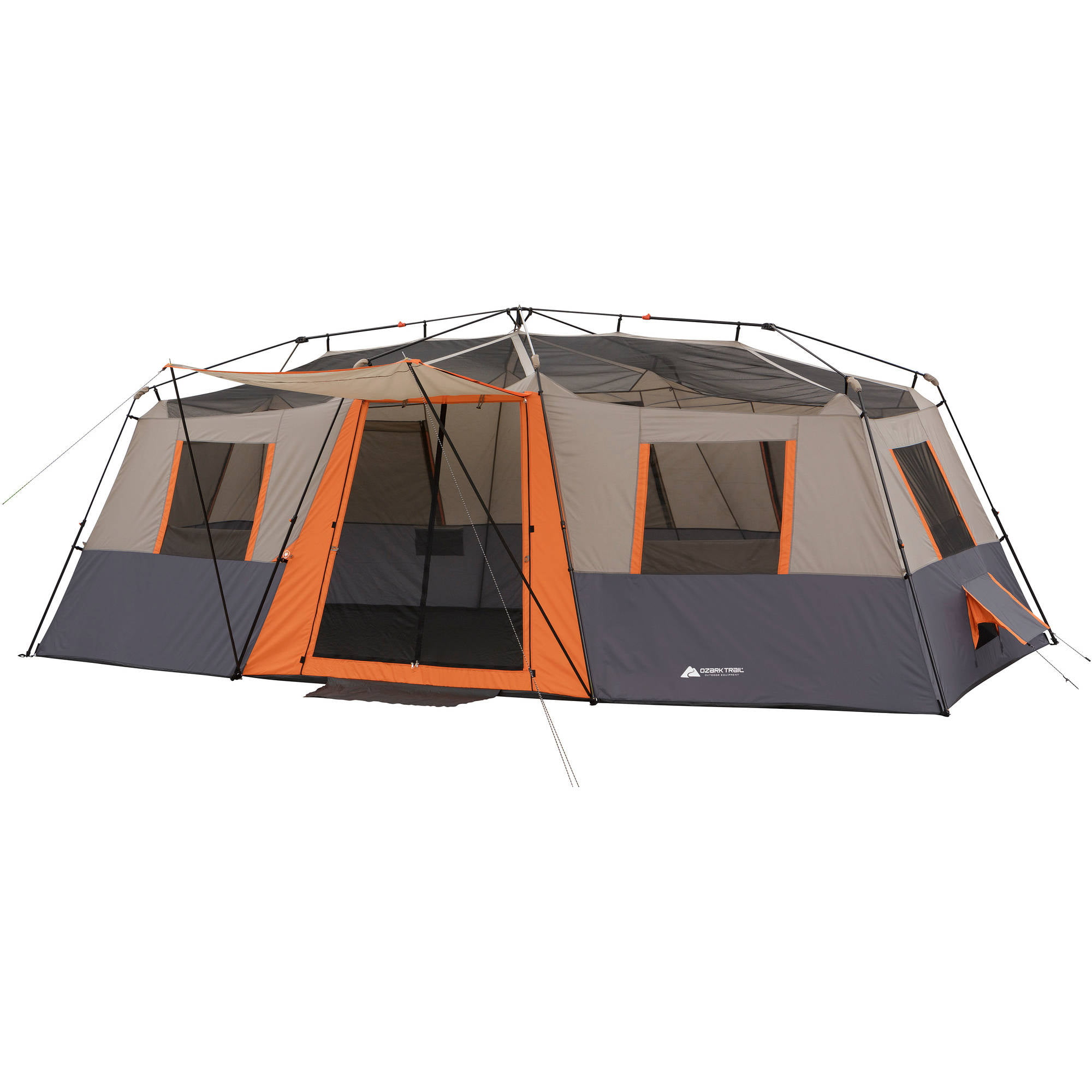 Ozark Trail 12 Person 3 Room Instant Cabin Tent with 2 Airbeds and 2 Chairs Value Bundle - Walmart.com  sc 1 st  Walmart : 12 person instant tent - memphite.com