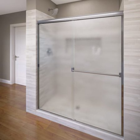 basco a0053-60ob classic 70u0022 high x 60u0022 wide bypass framed shower door with obscured glass