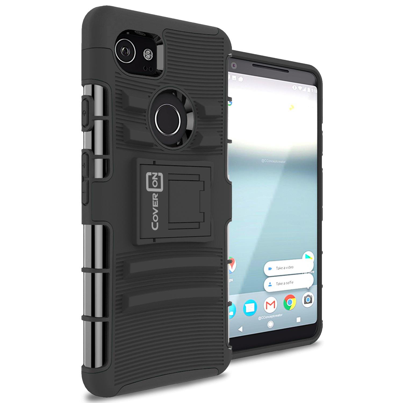CoverON Google Pixel 2 XL / 2XL Case, Explorer Series Protective Holster Belt Clip Phone Cover