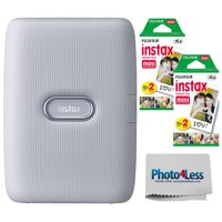 Fujifilm Instax Mini Link Smartphone Printer Ash White + 40 Exposures