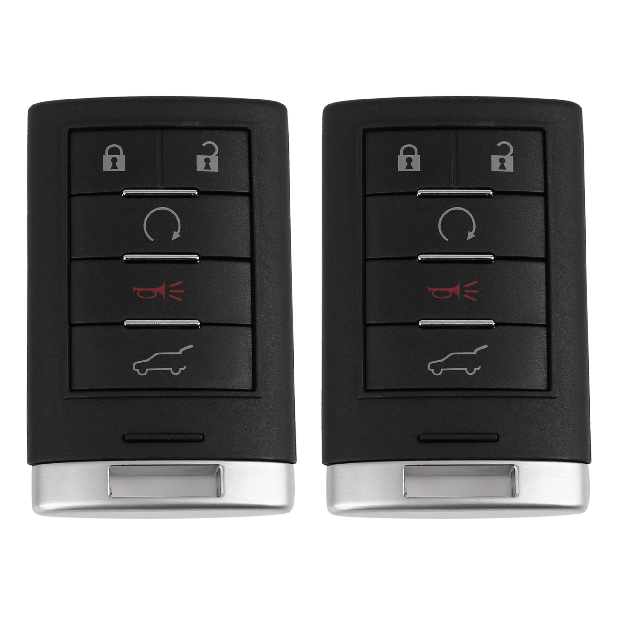 2pcs New Replacement Keyless Entry Remote Car Key Fob