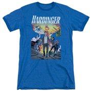 Harbinger Foot Forward Mens Adult Heather Ringer Shirt