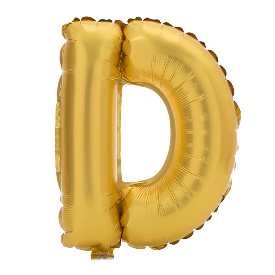 """Unique Bargains 16"""" Gold Tone Foil Letter D Balloon Helium Birthday Wedding Festival Decor"""