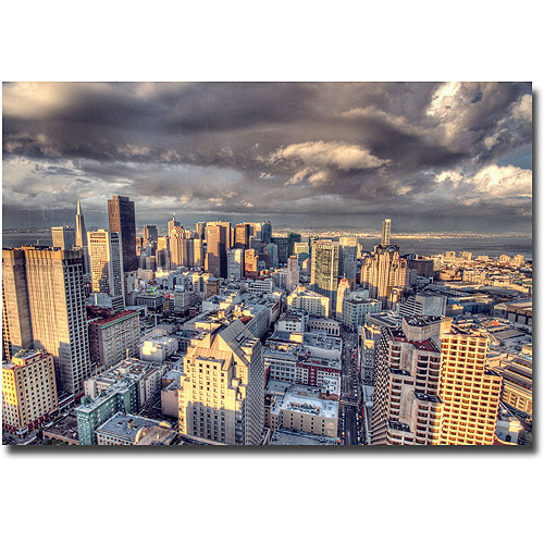 "Trademark Fine Art ""SF Downtown"" Canvas Wall Art by Ariane Moshayedi"