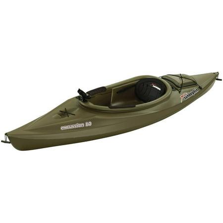 Sun Dolphin Green Excursion 10 Sit In Fishing Kayak With Bonus Paddle