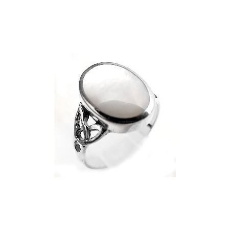 Pearl Celtic Knot Ring (Sterling Silver Mother of Pearl Inlay Celtic Knot Ring)