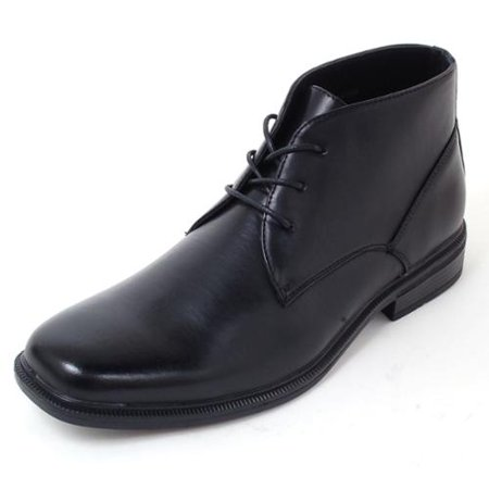 Alpine Swiss Mens Ankle Boots Dressy Casual Leather Lined Dress Shoes Lace up NW Black Size 12