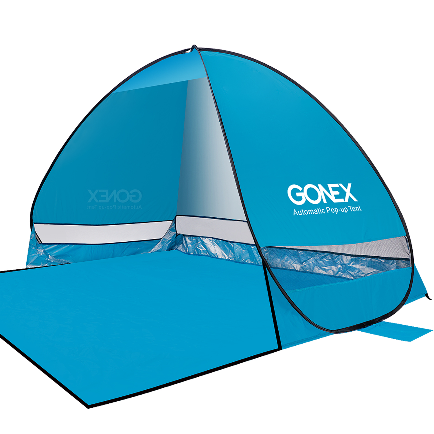 Gonex Lightweight Beach Shade Tent Sun Shelter, Automatic Pop up Instant Portable Family Anti UV Cabana