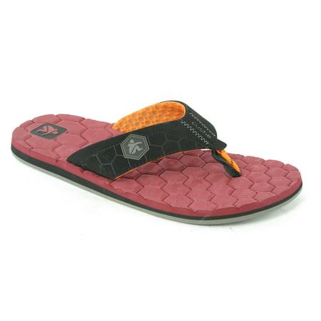Cushe Flipside Red Black Sandal Mens M New  38