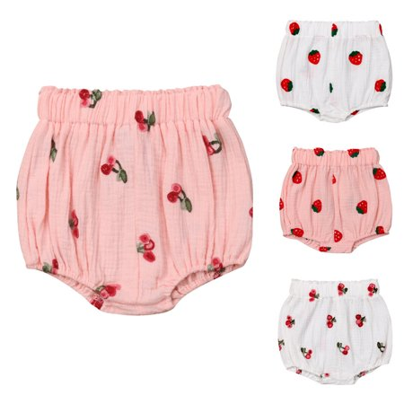 Infant Baby Girls Panties Shorts Newborn Kids Cotton Bloomer Diaper Cover Briefs (Newborn Diaper Covers)