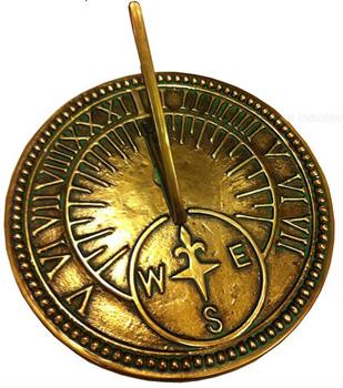 Rome 8 Inch Brass Roman Sundial by