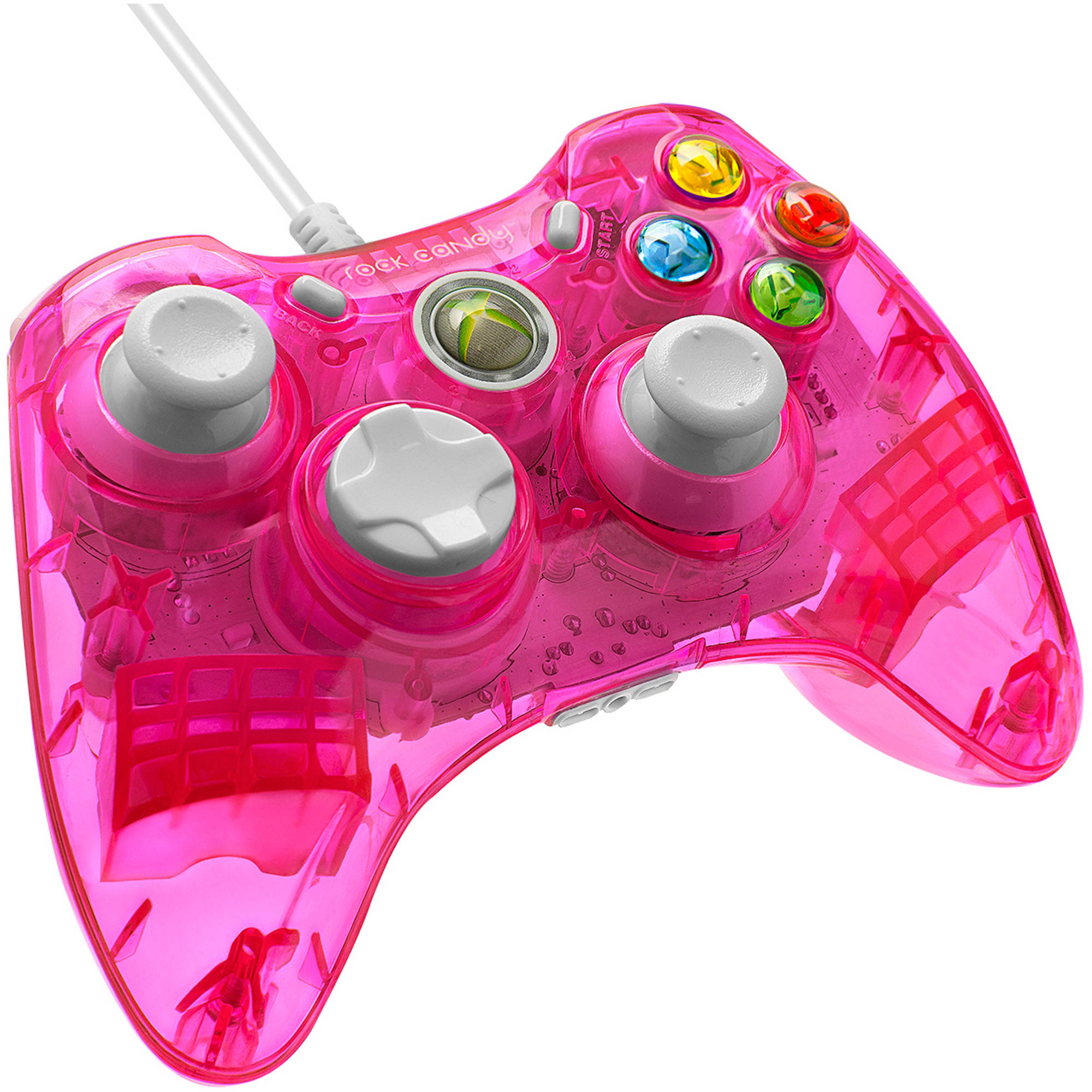 PDP Rock Candy Wired Controller for Xbox 360, Pink Palooza