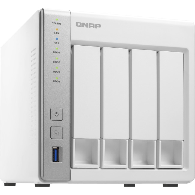 QNAP 4BAY PERSONAL CLOUD NAS W/ DLNA MOBILE APPS & AIRPLAY SUP