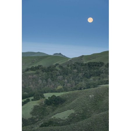 Full Moon over the Central Coast Print Wall Art By Rob Tilley - Halloween Parties Central Coast