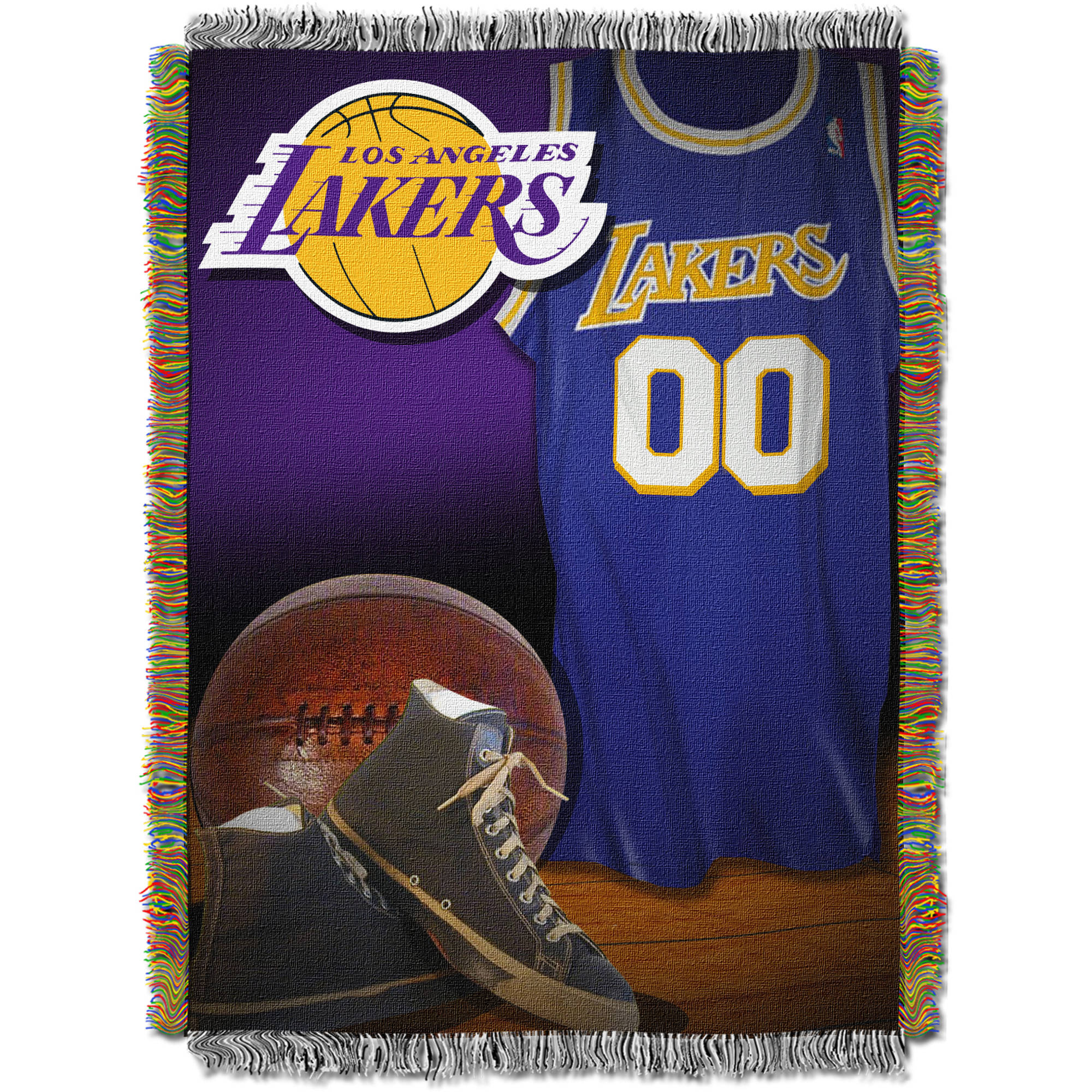 "NBA 48"" x 60"" Vintage Series Tapestry Throw, Lakers"