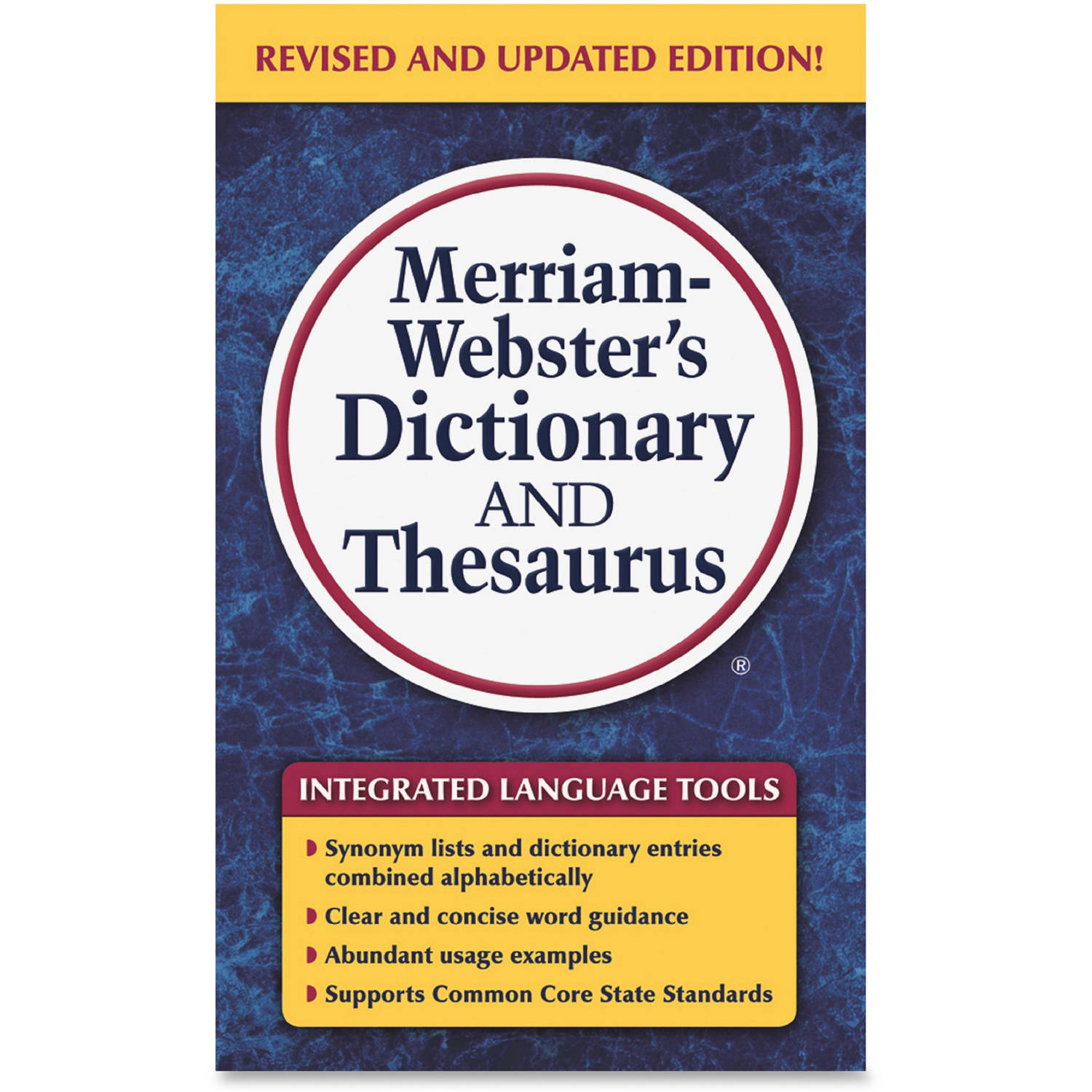 Merriam-Webster Dictionary/Thesaurus Printed Book, Assorted