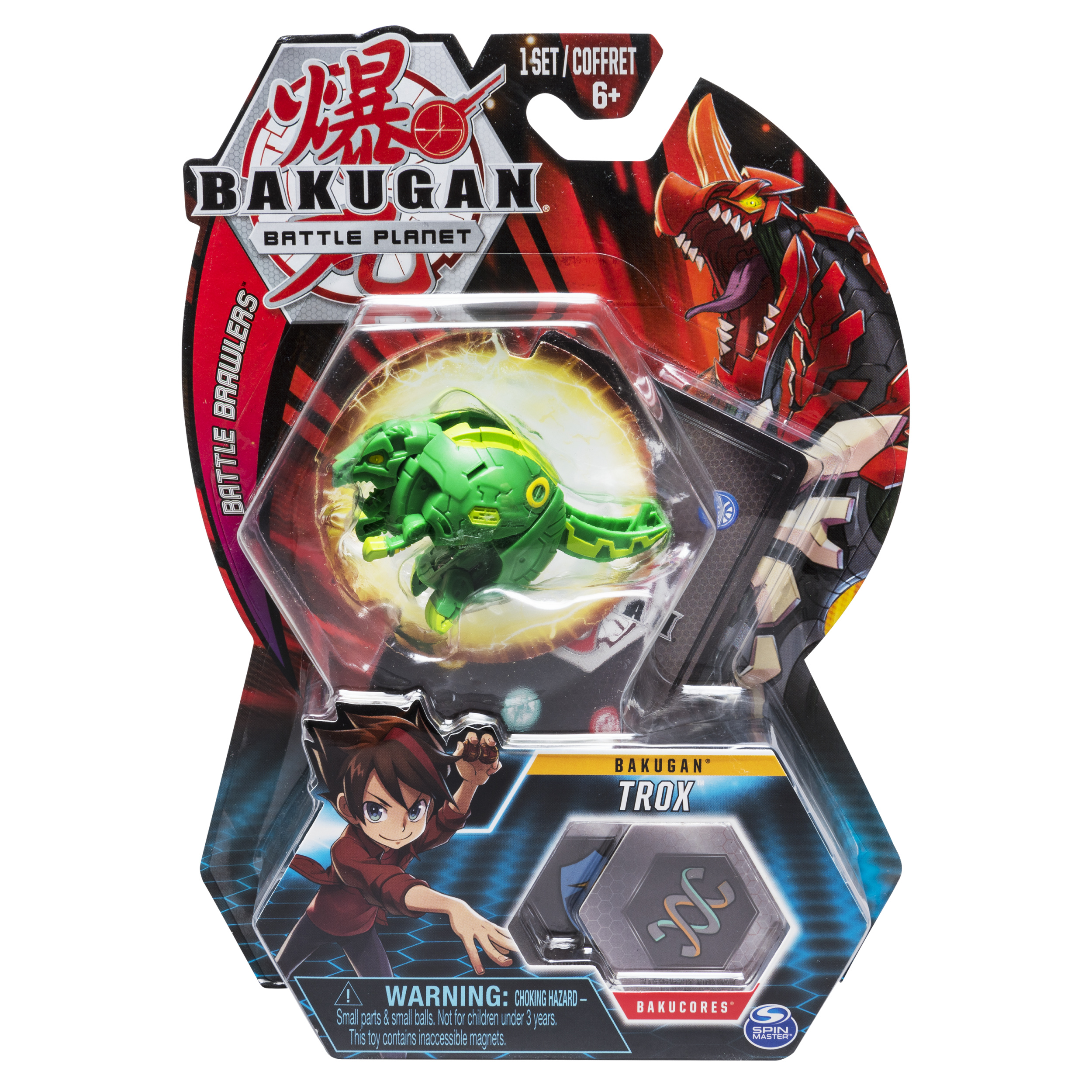 Bakugan, Trox, 2-inch Tall Collectible Transforming Creature, for Ages 6 and Up