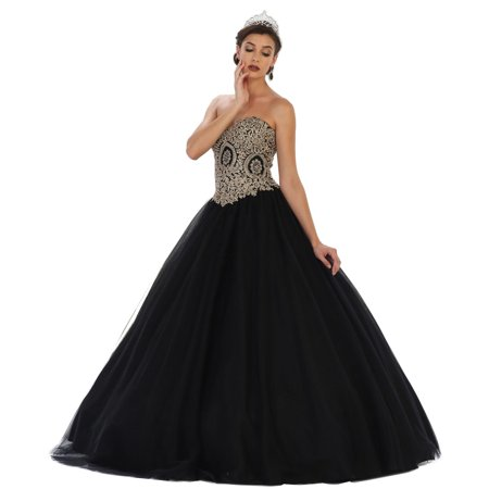 Formal Dress Shops Inc Embroidered Top Military Ball Gown Walmart Com