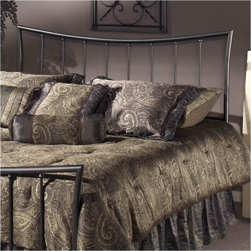 Hawthorne Collections Twin Metal Spindle Headboard in Pewter