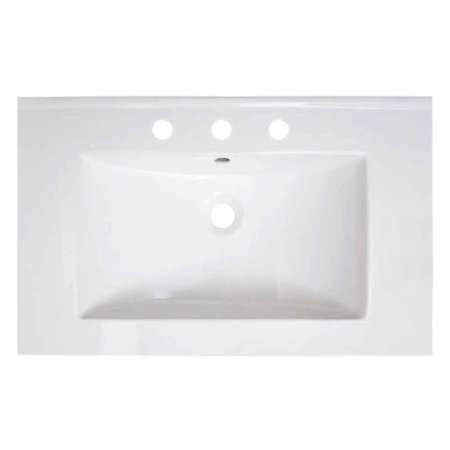 American Fibertek Single - American Imaginations Vee Ceramic 30'' Single Bathroom Vanity Top