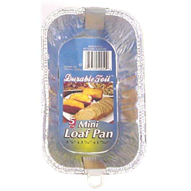 Bulk Buys Mini Foil Loaf Pan - 5 Pack - Case of 24