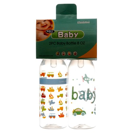 New 328544  Baby Bottle 8 Oz 2Pc Printed (24-Pack) Feeding Cheap Wholesale Discount Bulk Baby Feeding Baby Botle](Bulk Bottles)