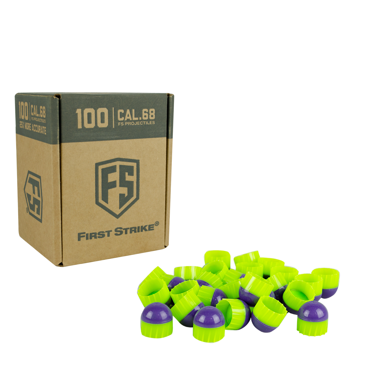 Tiberius Arms First Strike Paintballs Purple   Green Shell Green Fill 100 Count by Tiberius Arms