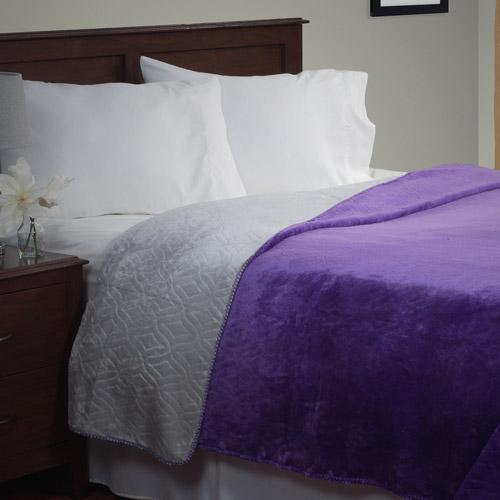Somerset Home Super Warm Flannel-Like Reversible Blanket