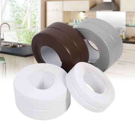 Hilitand 2 Sizes 3 Colors Sealing Strip Kitchen Sink Bath Basin Edge  Waterproof Mildew Wall Sealing Strip Sealant Tape