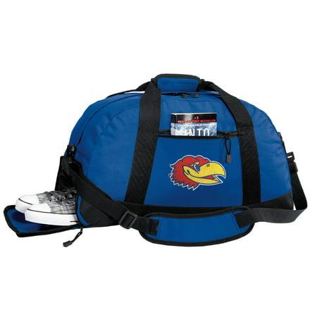 Broad Bay Kansas Jayhawks Gym Bags University of Kansas Duffle Bag WITH Cool SHOE POCKET!
