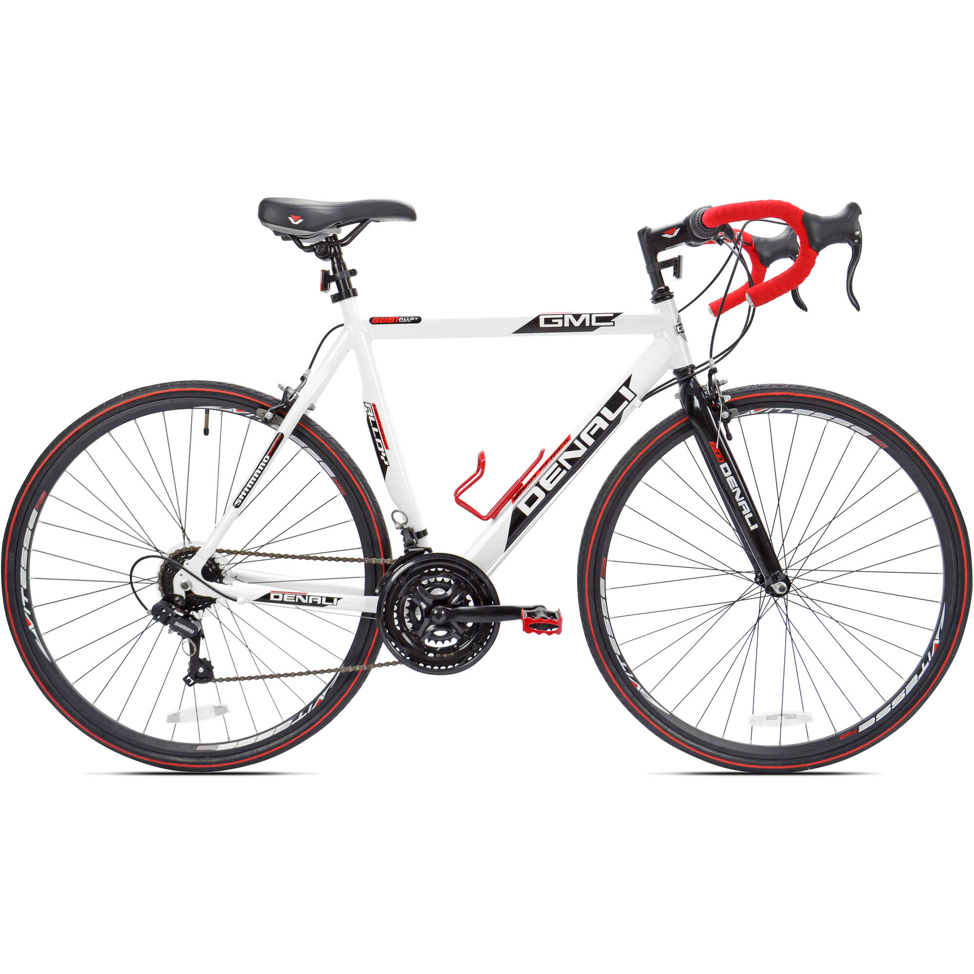 "25"" 700c GMC Denali Men's Bike, White/Red"