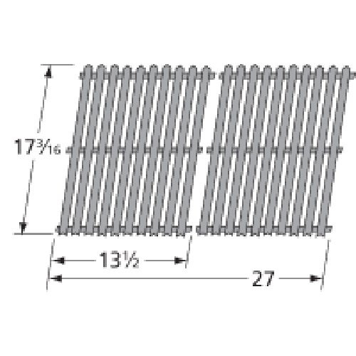 Porcelain Steel Channels Cooking Grid Replacement for Select Grill Master and U