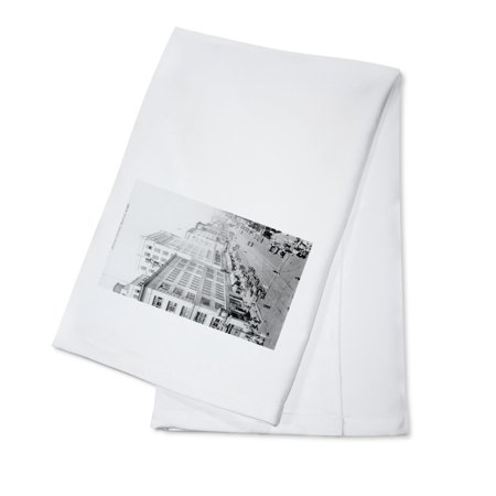Seattle  Washington   Aerial View Of 2Nd And Pike Intersection  100  Cotton Kitchen Towel