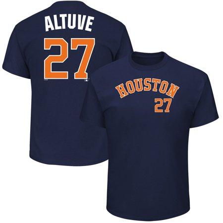 Men's Majestic Jose Altuve Navy Houston Astros MLB Name & Number T-Shirt](Adult Store Houston)