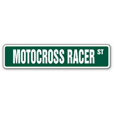 MOTOCROSS RACER Street Sign dirt bike motorcycle cycle racing | Indoor/Outdoor | 24