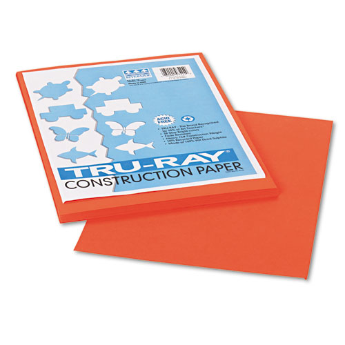 Pacon Corporation Tru-Ray Construction Paper, 76 Lbs., 9 X 12, 50 Sheets/Pack (Set of 3)