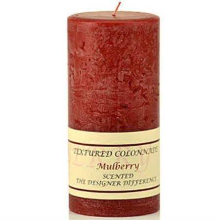 Textured Mulberry (Tex3x6-Mulb Mulberry 3 x 6 Textured Pillar Candle)