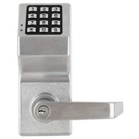 LOCDOWN Electronic Lock,Brushed Chrome,12 Butto DL610026D