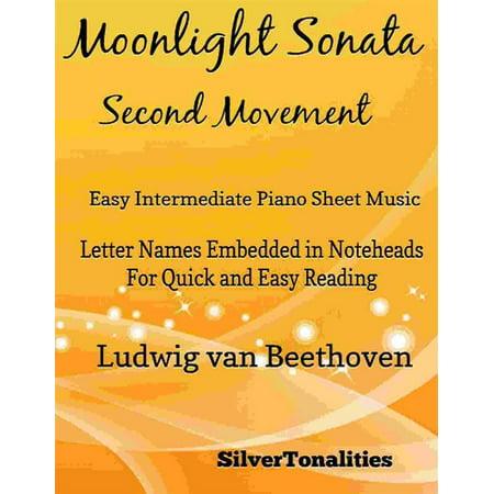 Moonlight Sonata Second Movement Easy Intermediate Piano Sheet Music - eBook ()