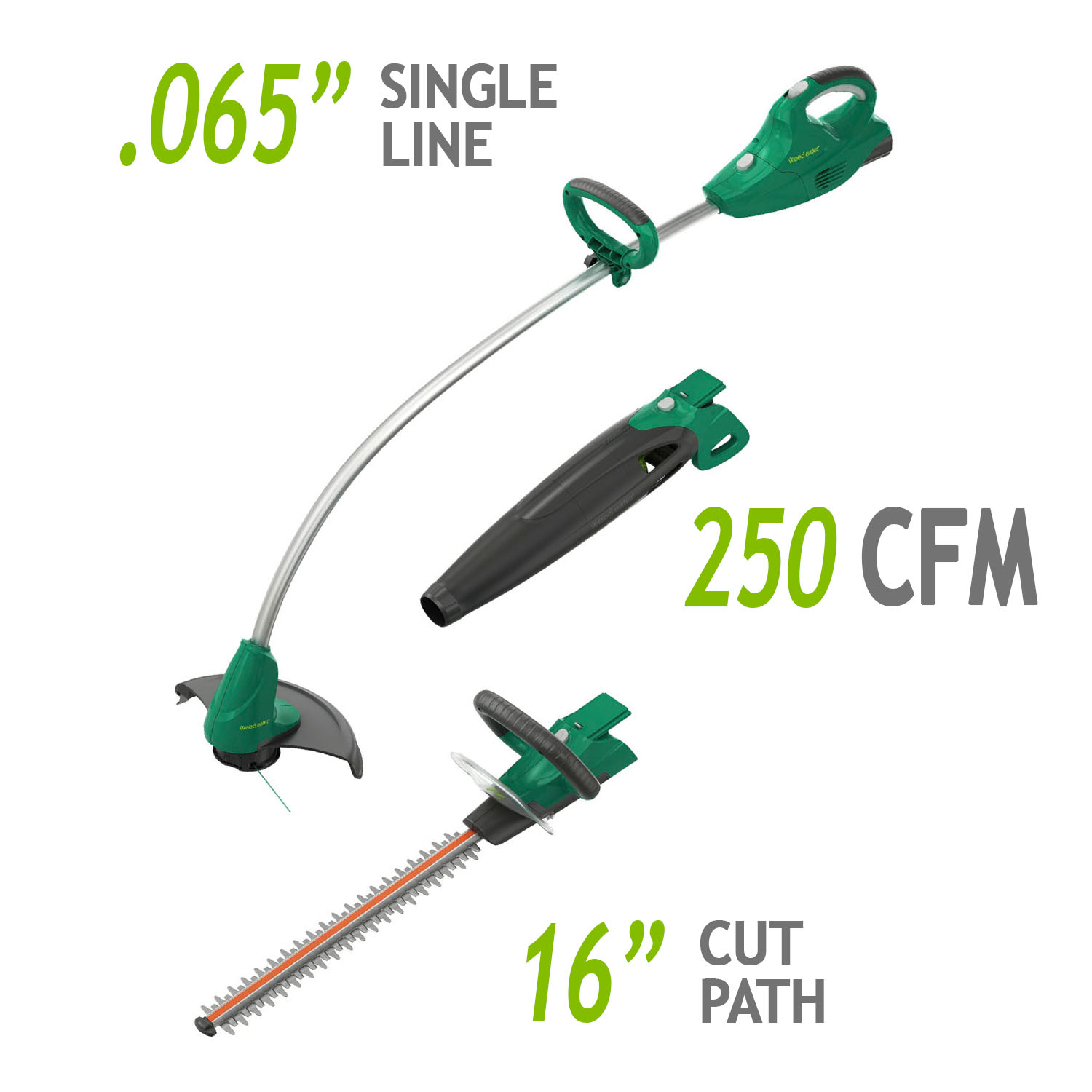 Weed Eater 20-Volt Cordless Interchangeable Combo, 3 tools in 1 (includes 2.5Ah battery)