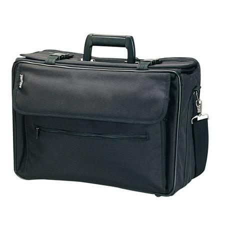 THE MONSOON BLACK FLAP-OVER (Slimline Flap Briefcase)