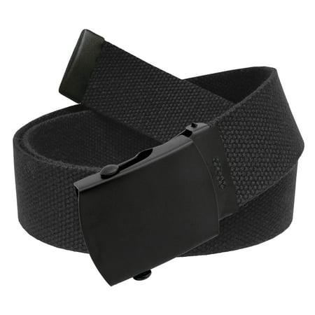 All Sizes Men's Golf Belt in 1.5 Black Slider Belt Buckle with Adjustable Canvas Web Belt Small (Tiger Woods Golf Belt)