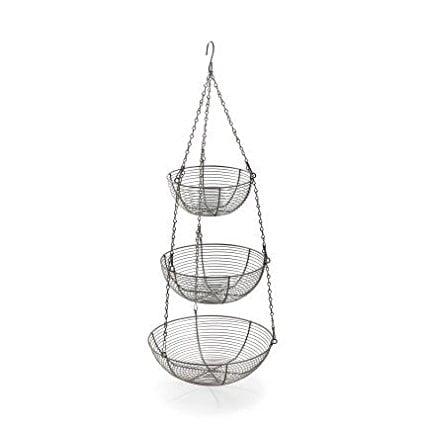 Three Tier Hanging Basket  Aluminum  Three Tier Hanging Basket  Aluminum By Sur La Table