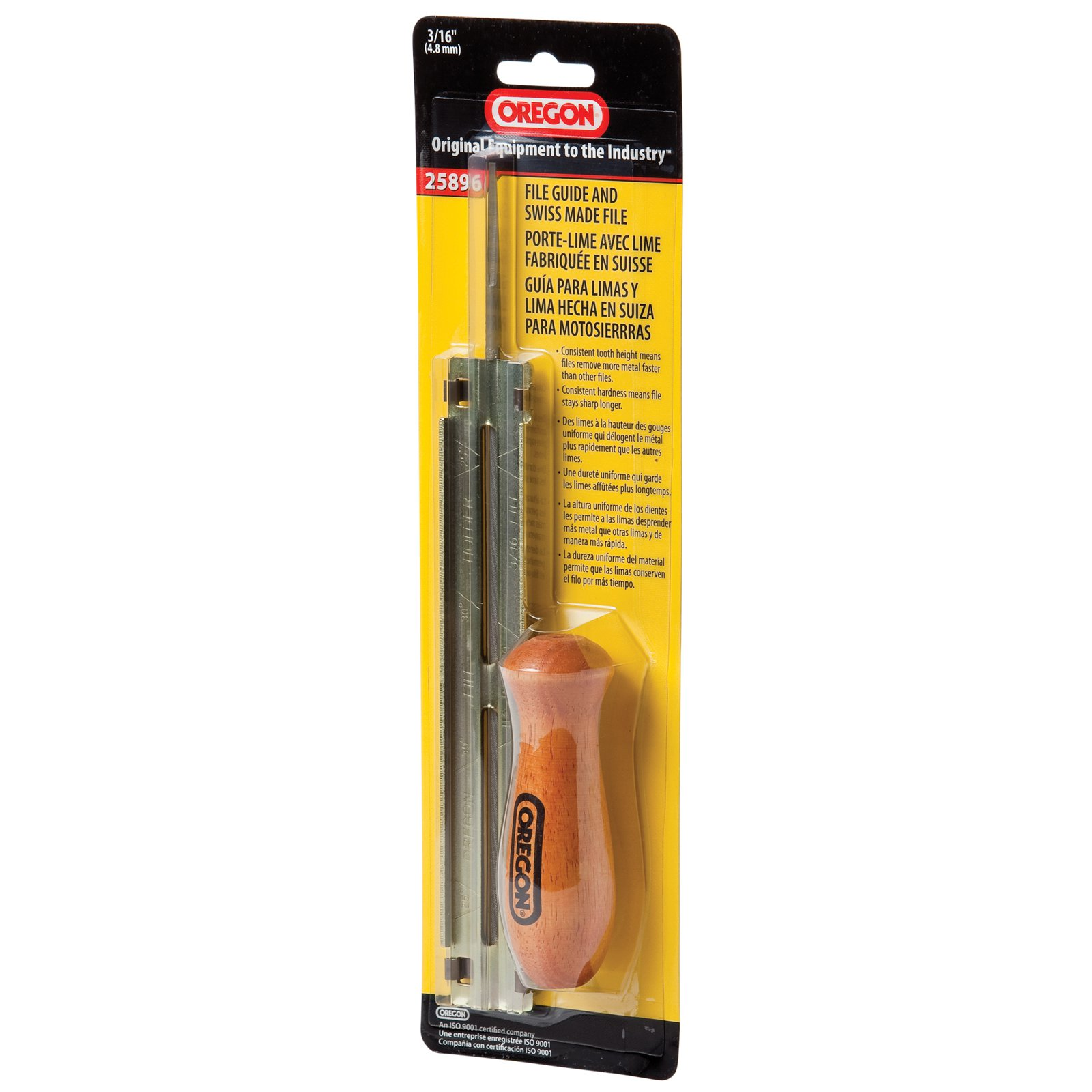 """Oregon Chain 25896 3/16"""" Chainsaw File Guide with Files"""