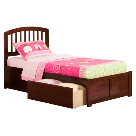 Richmond Extra Large Match Footboard with Urban Bed Drawers x 1 - Antique Walnut, Twin Size ()
