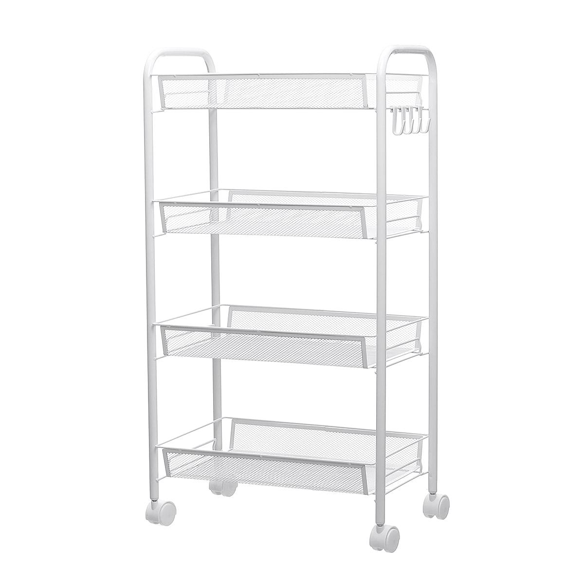 Bestller 5-Shelf Shelving Storage Unit White Stainless ...