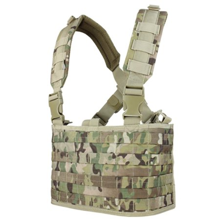 Condor Ops Chest Rig - Multicam, Heavyweight webbing for modular attachment By Condor Outdoor from - Spec Ops Chest Rig